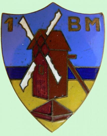 Insigne du 1er BM.