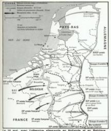 carte nord france le 10 mai 1940