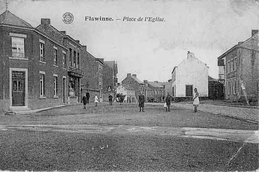 Flawine, place de l'église